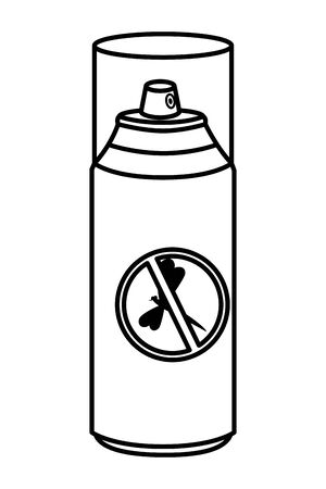 mosquito repellent spray bottle icon vector illustration design Stock Vector - 124992191