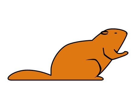 cute otter rodent animal icon vector illustration design