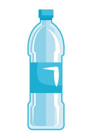 Plastikflasche recyceln Symbol Vektor Illustration Design