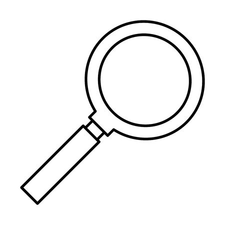 search magnifying glass isolated icon vector illustration design Banco de Imagens - 124992267