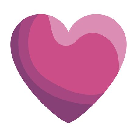heart love romantic isolated icon vector illustration design  イラスト・ベクター素材
