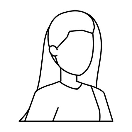 cute young woman avatar character vector illustration design