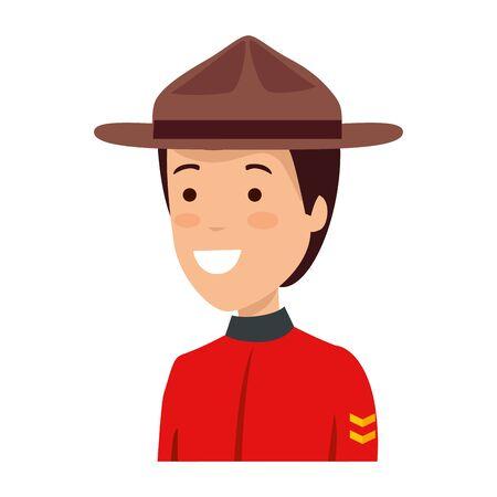 canadian officer ranger avatar character vector illustration design Illustration