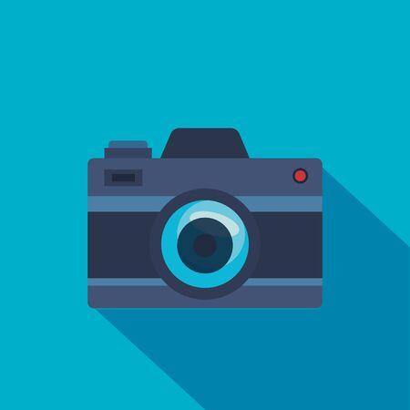 digital camera technology professional equipment over blue background vector illustration  イラスト・ベクター素材