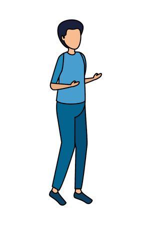 cute young woman avatar character vector illustration design Standard-Bild - 124978212