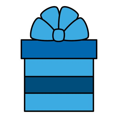 gift box present isolated icon vector illustration design Çizim