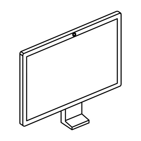computer desktop monitor device icon vector illustration design