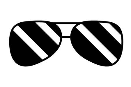 sunglasses accessory element icon vector illustration design  イラスト・ベクター素材