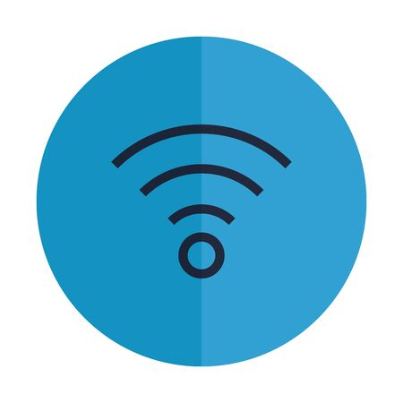waves wifi signal isolated icon vector illustration design