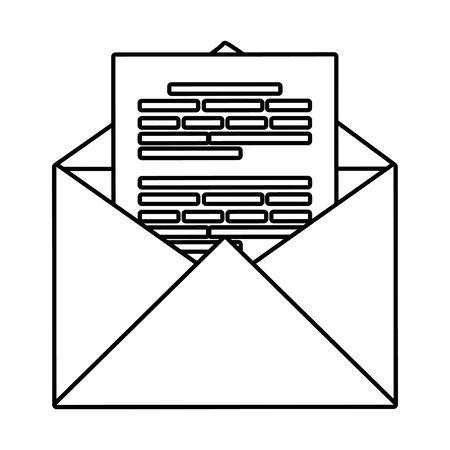 envelope mail social media icon vector illustration design Archivio Fotografico - 125005757