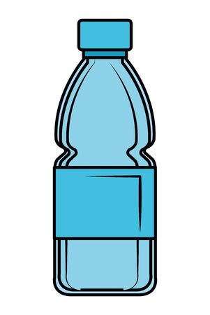 plastic bottle recycle icon vector illustration design  イラスト・ベクター素材