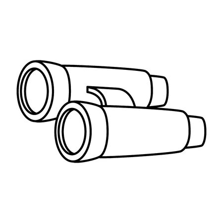 binoculars optical accessory isolated icon vector illustration design