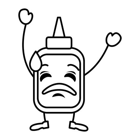 cute glue bottle character vector illustration design 向量圖像
