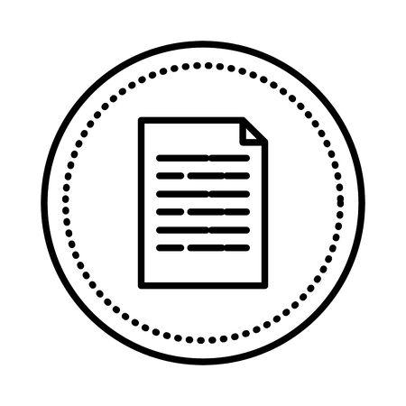 Diseño de ilustración de vector de icono de archivo de documento de papel Ilustración de vector