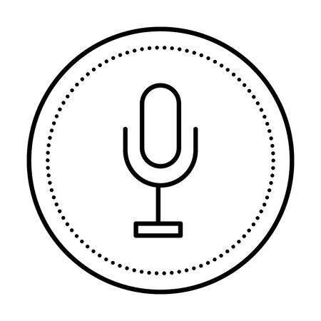 microphone audio record isolated icon vector illustration design