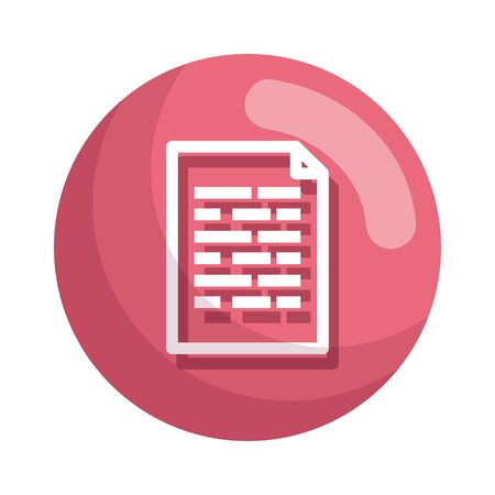 L'icône de fichier de document papier conception d'illustration vectorielle