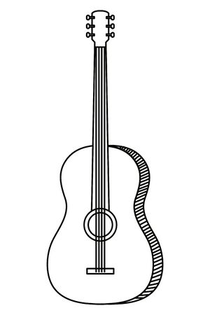 acoustic guitar musical instrument icon vector illustration design Stok Fotoğraf - 125021741