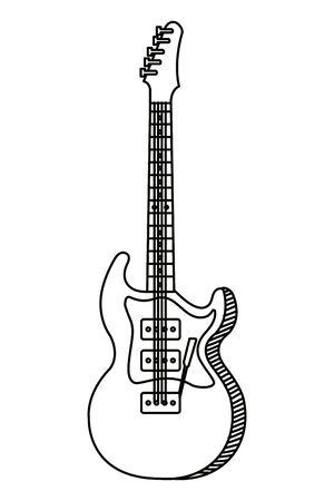 electric guitar instrument musical icon vector illustration design