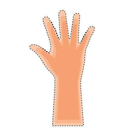 hands human up isolated icon vector illustration design Illustration