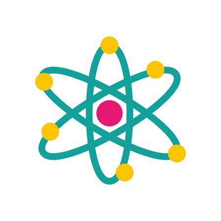 Estructura de la molécula, diseño de ilustraciones vectoriales icono aislado