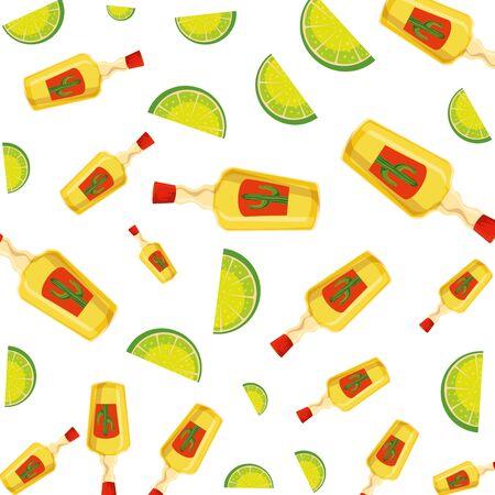 tequila bottle isolated icon vector illustration design Illustration