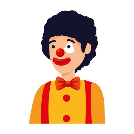 circus clown comic character vector illustration design