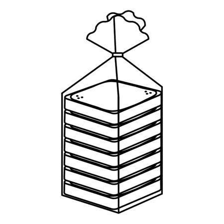 bread slice bag icon vector illustration design Ilustração