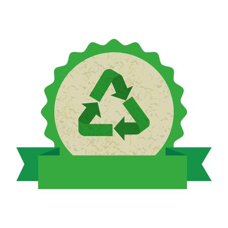 recycle arrows symbol icon vector illustration design Reklamní fotografie - 125286312