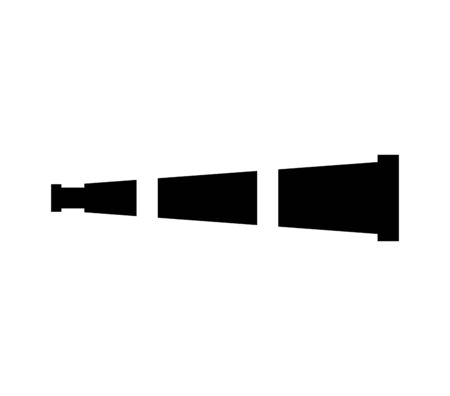 Dispositif de télescope icône isolé vector illustration design