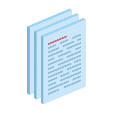 paper document files isolated icon vector illustration design
