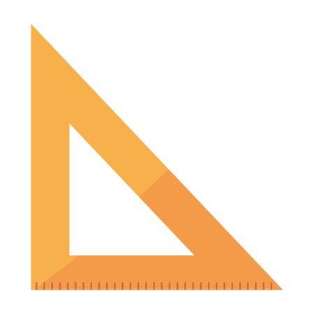 triangle rule education supply icon vector illustration design