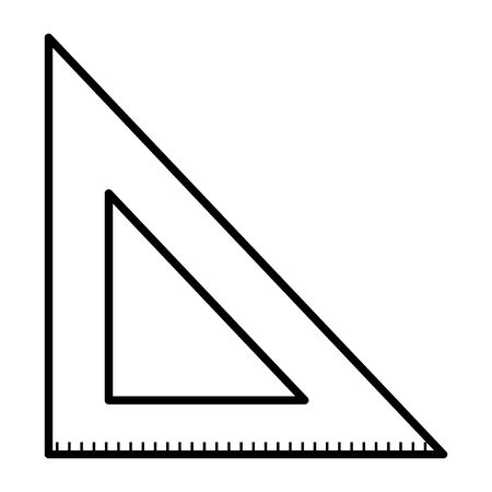 triangle rule education supply icon vector illustration design