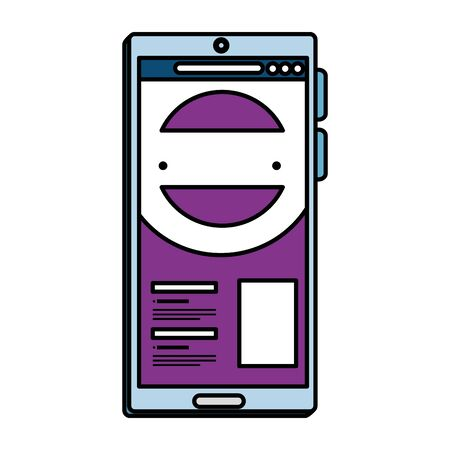 smartphone device electronic icon vector illustration design Illustration