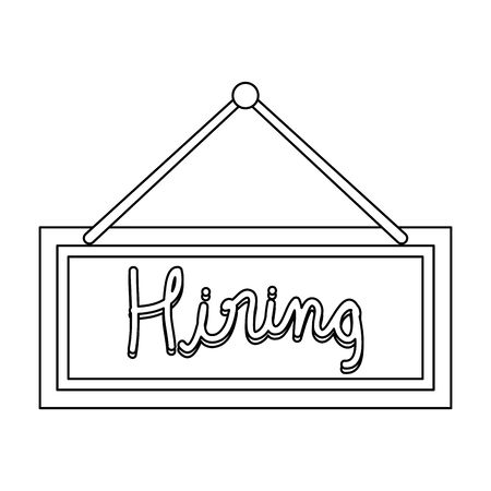 hiring label hanging icon vector illustration design Illustration