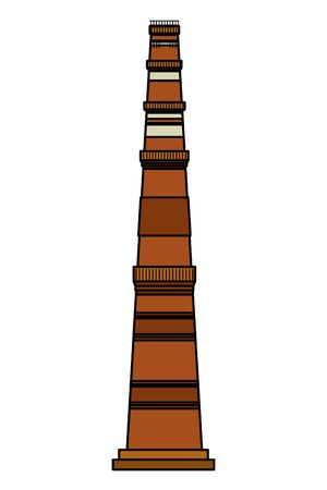 jama masjid famous building icon vector illustration design  イラスト・ベクター素材