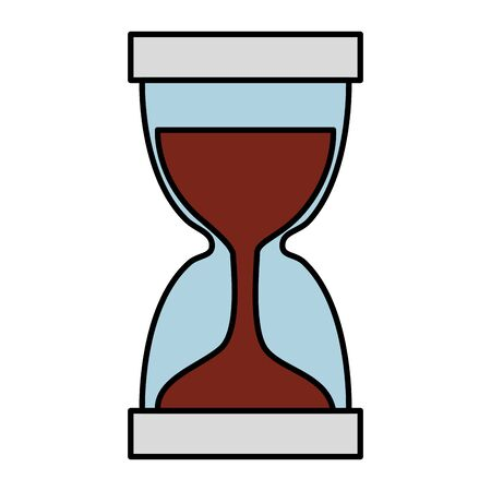hourglass time device isolated icon vector illustration design