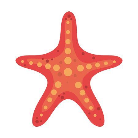 Diseño de ilustración de vector de icono aislado animal estrella de mar de verano Ilustración de vector