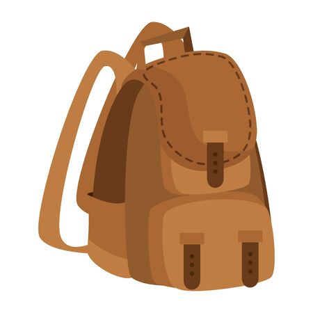 camping travel bag accessory icon vector illustration design