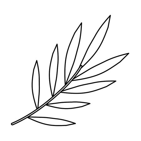 branch with leafs plants icon vector illustration design 矢量图像