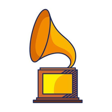 Diseño del ejemplo del vector del icono del reproductor de música retro del silófono