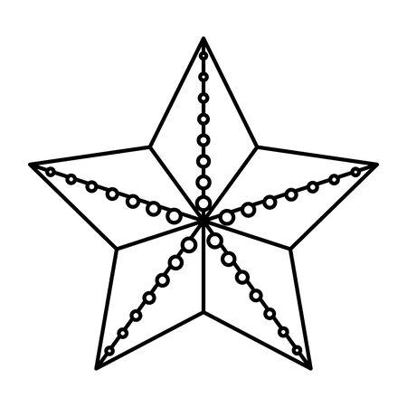 summer shell starfish animal icon vector illustration design