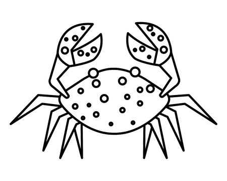 crab marine animal isolated icon vector illustration design  イラスト・ベクター素材