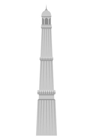 jama masjid famous building icon vector illustration design  イラスト・ベクター素材