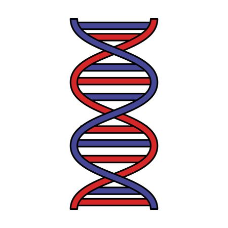 dna molecule science icon vector illustration design Illustration