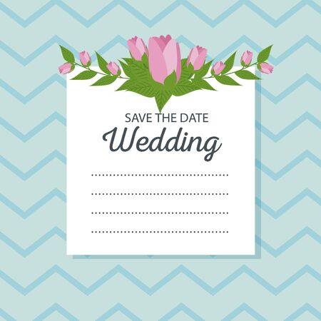 roses decoration to weadding card event vector illustration Standard-Bild - 125622046