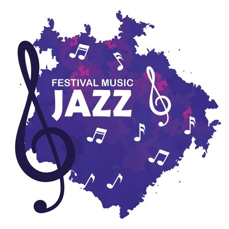 music signs notes to jazz day vector illustration