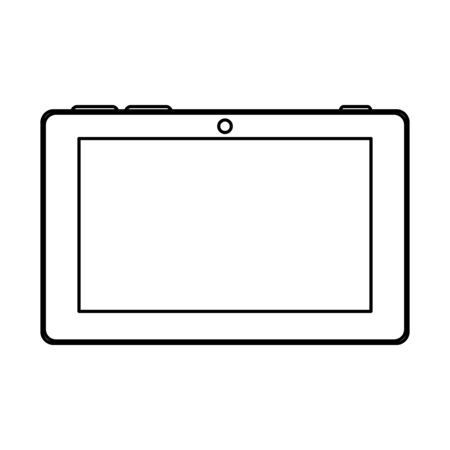 tablet electronic device isolated icon vector illustration design
