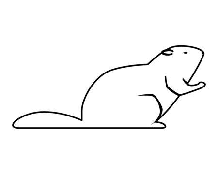 cute otter rodent animal icon vector illustration design