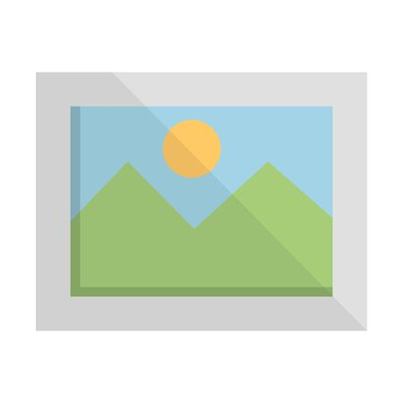picture file photo format icon vector illustration design 向量圖像