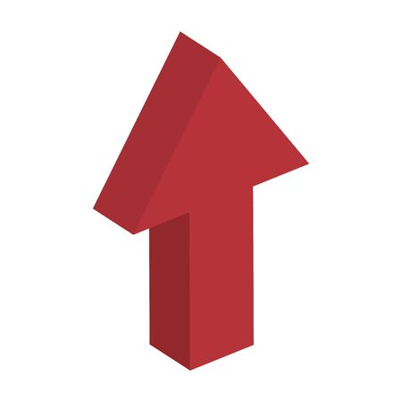 arrow up direction isolated icon vector illustration design Illusztráció